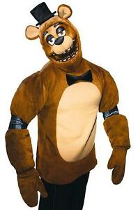 Freddy Bear Five Nights Freddy's Video Game Fancy Dress Halloween Adult Costume