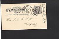 ELKPORT, IOWA 1883, GPC,  CLAYTON CO. DPO. 1849/1943.