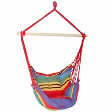 Hammock Chair Swing Timber + 2 Multicolour Cushions