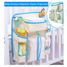 Baby Bed Crib Nursery Storage Organizer Hanging Bag Pouch for Toy Diaper