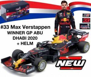 RED BULL RB16 F1 Max Verstappen Winner Abu Dhabi 2020 1:43 BURAGO 38053 or 38052