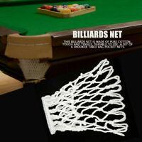 6Pcs Billiards Pool Snooker Table Mesh Cotton Nets Pockets Billiard Accessory❤