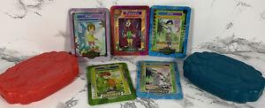 Digimon Lot of 5 Tin Metal Cards 2000 Taco Bell Gomamon Izzy Joe Piedmon Kari