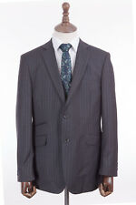 Men's Savile Row Suit Alexandre Grey Pinstripe Tailored Fit 40R W34 L32