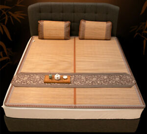 Chinese summer accessories bamboo mat for bed ice silk double faces cool feeling