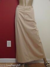 BANANA REPUBLIC TAN KHAKI LONG MAXI COTTON CAREER SKIRT SZ 10
