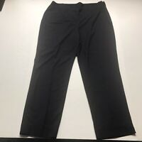 "Talbots Hollywood Fit Crop Black Dress Pants Size 16 28"" Inseam A602"