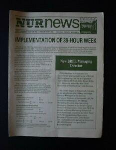 NUR - National Union of Railwaymen News - Implementation of 39 Hour Week - 1982