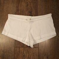 WHITE HOT PANT SHORTS 2 BEACH SUMMER TOWIE FESTIVAL CLUB IBIZA BOHO CELEB CUTE