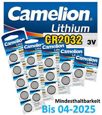 Camelion CR2032 Lithium Knopfzellen 3V DL2032 Batterie Alarmanlagen Computer