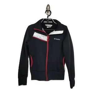 Womens Columbia Interchange M Black w/ Red White Accent Zip Up Sporty Jacket