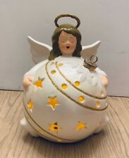 QVC Home Reflections Color Changing lighted ANGEL Christmas Ball Luminary in Box