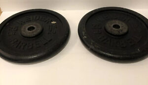 Vintage Weider 25lb Standard Weight plates VERY NICE