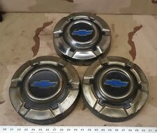 (3) 68-72 Chevy Pickup Truck Dog Dish Wheel Hub Caps OEM 1500 Chevrolet