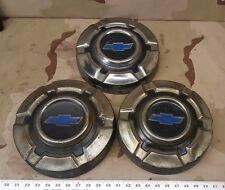 (3) 68-72 Chevy Pickup Truck Dog Dish Wheel Hub Caps OEM 1500 Chevrolet