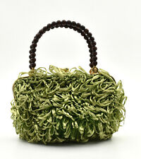 Small Bag Woman Kitsch Raffia Green Years 60 Vintage Kitsch Raffia Bag