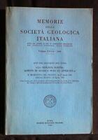 MEMORIE DELLA SOCIETA' GEOLOGICA ITALIANA. AA.VV. Società Geologica Italiana.