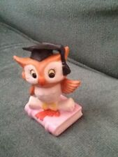 Lefton China Owl Graduate Figurine #03307 Hand painted