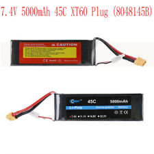 2S 7.4V 5000mah 45C XT60 Plug Lipo Battery 8048145B For RC Drone Quadcopter Car