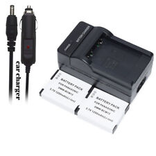TWO BATTERY 3.7V 1250mAH +Charger FOR Panasonic DMW-BCM13 DMW-BCM13E DMW-BCM13PP