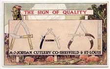 A-J-Jordan Couverts Co Sheffield & st Louis Rare Publicité Carte Postale