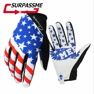 Gloves Motorcycle American Flag Full finger Flexible Racing Bike