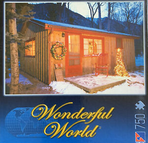 Puzzles: Wondeful World - Holiday Cabin (750 Pieces)