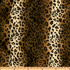 LEOPARD ANIMAL PRINT FAUX FUR VELVET FABRIC BTY PILLOW SOFA UPHOLSTERY JACKET