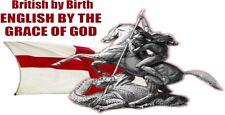 Inglés británico por nacimiento por la gracia de Dios Pegatinas Coche Furgoneta Bicicleta Portátil