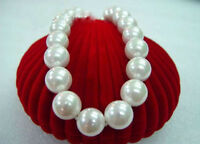 noblest BIG 20mm AAA southsea white shell pearl necklace 18""