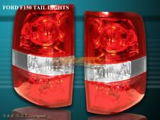 04 05 06 07 08 FORD F150 RED CLEAR TAIL LIGHTS XL STYLESIDE