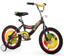 "Kids 16"" Bicycle Bike with Training Wheel For Boys Dino Black NEW"