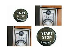 Start Stop Engine Button Cap Cover Black 3D Sticker Repair Kit Fit For Jaguar XF