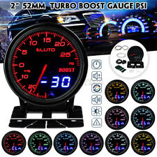 2'' 52mm 10 Colors LED Car Turbo Boost Gauge PSI Meter Dual Analog/Digital