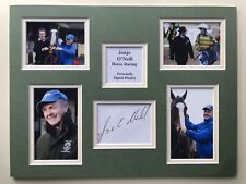 """Horse Racing Jonjo O'Neill Signed 16"""" X 12"""" Double Mounted Display"""