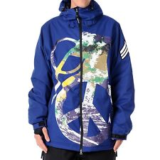 GRENADE Men's PEACE BOMB Snow Jacket - Blue - Size Large - NWT
