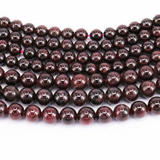 Lots Natural Garnet Stone Round Spacer Loose Beads Jewelry Findings Craft 4-10MM