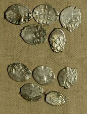 """Russia : Mix 5 Coins  """"Wire Money"""" (""""Fish Scales"""")Dates  from 1479 to 1701 G1021"""