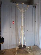 Antique Art Nouveau wrought iron candelabra light or lamp stand