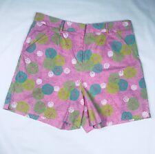 Lilly Pulitzer sand dollar pattern Pink Green summer High Waist Shorts Size/12