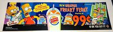 The Simpsons BURGER KING ORANGE FREAKY FLOAT SIGN #2 Halloween BK 2002 THOH Bart