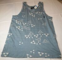 Foursstar Special Edition L large blue Mens surf skate tank top shirt NEW NWT