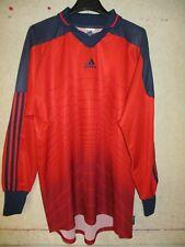 Maillot goal porté n°1 ADIDAS rouge shirt trikot camiseta gardien de but L