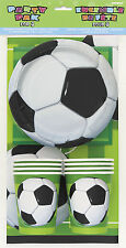 Football Party Pack for 8 Guests Plates Napkins Cups and 1 Plastic Tablecloth