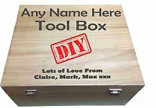 Personalised Large Luxury toolbox with any name and message