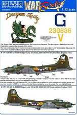 Kits World Decals 1/32 BOEING B-17F FLYING FORTRESS Dragon Lady