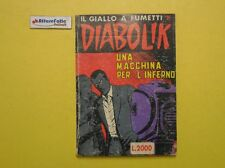 J 4592 RIVISTA IL GIALLO A FUMETTI DIABOLIK UNA MACCHINA PER L'INFERNO 1989