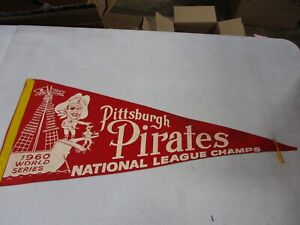 Vintage 1960 Pittsburgh Pirates Pennant