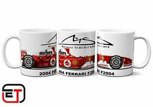 Micheal Schumacher 2004 Ferrari F2004 F1 Car Mug And Coaster Gift Set