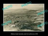 OLD LARGE HISTORIC PHOTO WALLAROO SOUTH AUSTRALIA AERIAL VIEW OF TOWN c1930
